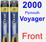Front Wiper Blade Pack for 2000 Plymouth Voyager - Assurance