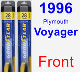 Front Wiper Blade Pack for 1996 Plymouth Voyager - Assurance