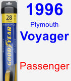 Passenger Wiper Blade for 1996 Plymouth Voyager - Assurance