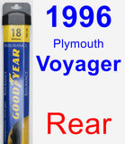Rear Wiper Blade for 1996 Plymouth Voyager - Assurance