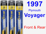 Front & Rear Wiper Blade Pack for 1997 Plymouth Voyager - Assurance