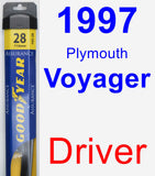 Driver Wiper Blade for 1997 Plymouth Voyager - Assurance
