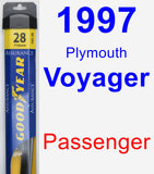 Passenger Wiper Blade for 1997 Plymouth Voyager - Assurance