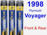 Front & Rear Wiper Blade Pack for 1998 Plymouth Voyager - Assurance