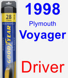Driver Wiper Blade for 1998 Plymouth Voyager - Assurance