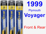 Front & Rear Wiper Blade Pack for 1999 Plymouth Voyager - Assurance
