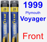 Front Wiper Blade Pack for 1999 Plymouth Voyager - Assurance