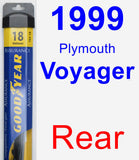 Rear Wiper Blade for 1999 Plymouth Voyager - Assurance