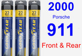 Front & Rear Wiper Blade Pack for 2000 Porsche 911 - Assurance