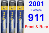 Front & Rear Wiper Blade Pack for 2001 Porsche 911 - Assurance
