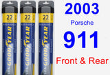 Front & Rear Wiper Blade Pack for 2003 Porsche 911 - Assurance