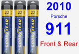 Front & Rear Wiper Blade Pack for 2010 Porsche 911 - Assurance