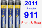 Front & Rear Wiper Blade Pack for 2011 Porsche 911 - Assurance