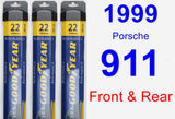 Front & Rear Wiper Blade Pack for 1999 Porsche 911 - Assurance