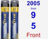 Front Wiper Blade Pack for 2005 Saab 9-5 - Assurance