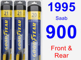 Front & Rear Wiper Blade Pack for 1995 Saab 900 - Assurance