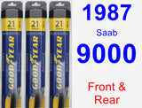 Front & Rear Wiper Blade Pack for 1987 Saab 9000 - Assurance