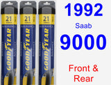 Front & Rear Wiper Blade Pack for 1992 Saab 9000 - Assurance