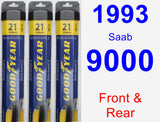 Front & Rear Wiper Blade Pack for 1993 Saab 9000 - Assurance