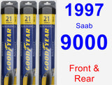 Front & Rear Wiper Blade Pack for 1997 Saab 9000 - Assurance