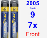 Front Wiper Blade Pack for 2005 Saab 9-7x - Assurance