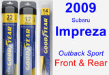 Front & Rear Wiper Blade Pack for 2009 Subaru Impreza - Assurance