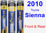 Front & Rear Wiper Blade Pack for 2010 Toyota Sienna - Assurance