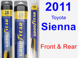 Front & Rear Wiper Blade Pack for 2011 Toyota Sienna - Assurance
