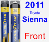 Front Wiper Blade Pack for 2011 Toyota Sienna - Assurance