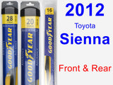 Front & Rear Wiper Blade Pack for 2012 Toyota Sienna - Assurance
