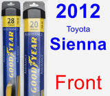 Front Wiper Blade Pack for 2012 Toyota Sienna - Assurance