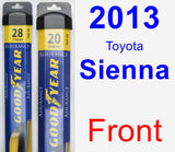 Front Wiper Blade Pack for 2013 Toyota Sienna - Assurance