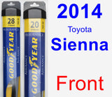 Front Wiper Blade Pack for 2014 Toyota Sienna - Assurance
