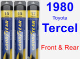 Front & Rear Wiper Blade Pack for 1980 Toyota Tercel - Assurance