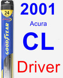 Driver Wiper Blade for 2001 Acura CL - Hybrid
