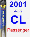 Passenger Wiper Blade for 2001 Acura CL - Hybrid