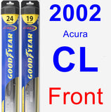 Front Wiper Blade Pack for 2002 Acura CL - Hybrid