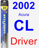 Driver Wiper Blade for 2002 Acura CL - Hybrid