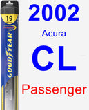 Passenger Wiper Blade for 2002 Acura CL - Hybrid