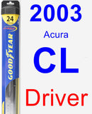 Driver Wiper Blade for 2003 Acura CL - Hybrid