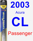 Passenger Wiper Blade for 2003 Acura CL - Hybrid