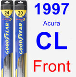 Front Wiper Blade Pack for 1997 Acura CL - Hybrid