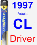 Driver Wiper Blade for 1997 Acura CL - Hybrid