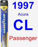 Passenger Wiper Blade for 1997 Acura CL - Hybrid