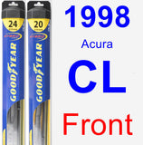 Front Wiper Blade Pack for 1998 Acura CL - Hybrid