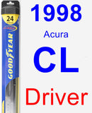 Driver Wiper Blade for 1998 Acura CL - Hybrid