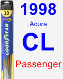 Passenger Wiper Blade for 1998 Acura CL - Hybrid
