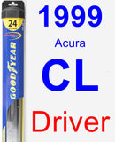 Driver Wiper Blade for 1999 Acura CL - Hybrid