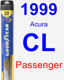 Passenger Wiper Blade for 1999 Acura CL - Hybrid