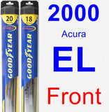 Front Wiper Blade Pack for 2000 Acura EL - Hybrid